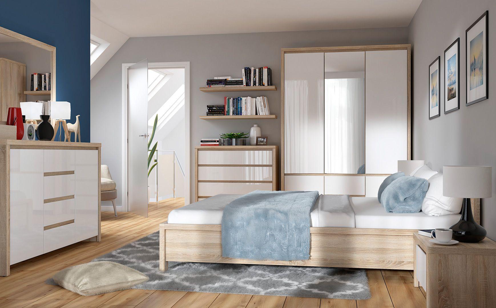 Complete slaapkamer inboedel Casper Deluxe uitgevoerd in de ...