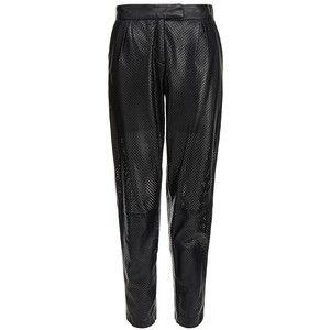 Muubaa Black Perforated Leather Trouser