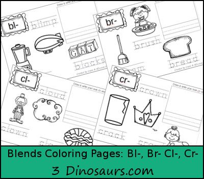 Free Blends Coloring Pages Bl, Br, Cl, Cr Best of 3