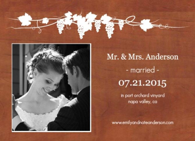 After Wedding Invitation Wording: Marriage Announcement Wording Ideas From PurpleTrail