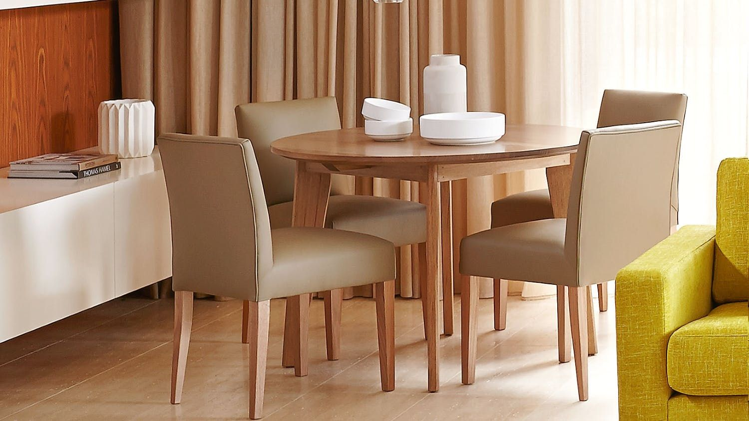 Elvie Round Dining Table  Round Dining Table Captivating Circular Dining Room Table Inspiration