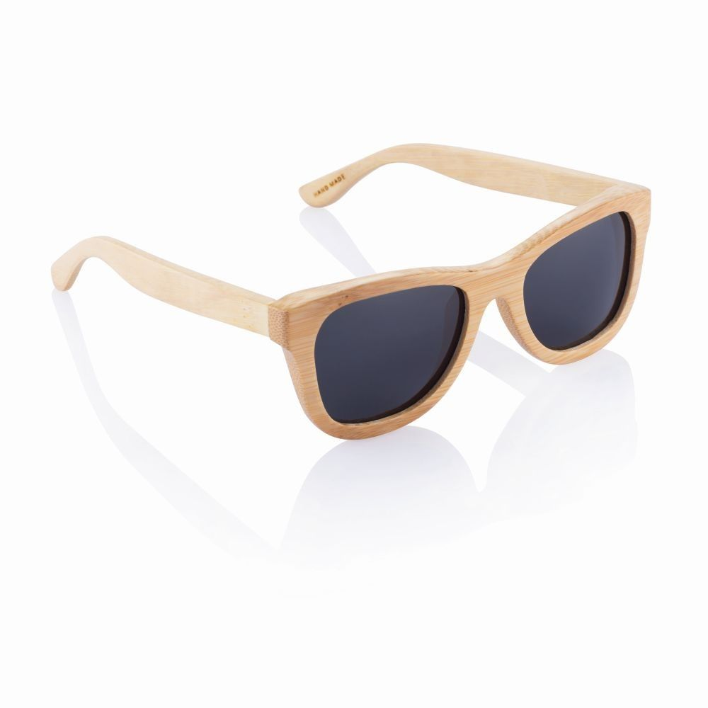 Бамбукови слънчеви очила със светла рамка
