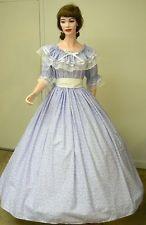 Details about Blue Civil War Victorian Renaissance Southern Belle Colonial Dress Gown Costume #dressesfromthesouthernbelleera Civil War Southern Belle Pioneer Sass Dress Costume #dressesfromthesouthernbelleera