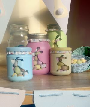 Decorating jam jars to store your easter choccies craft curtisward shows you how to decorate jam jars with paint to make a perfect easter gift or display of easter chocolates and sweets negle Choice Image