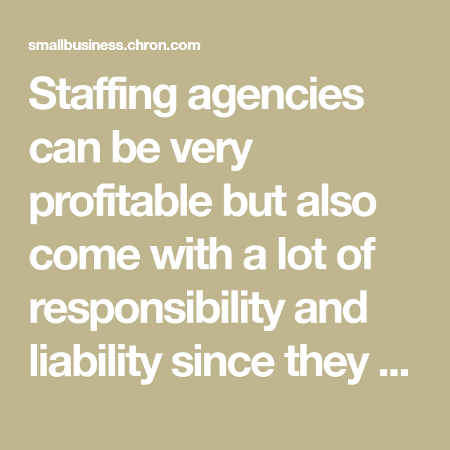 Checklist For Starting A Staffing Agency Staffing Agency Staffing Company Agency
