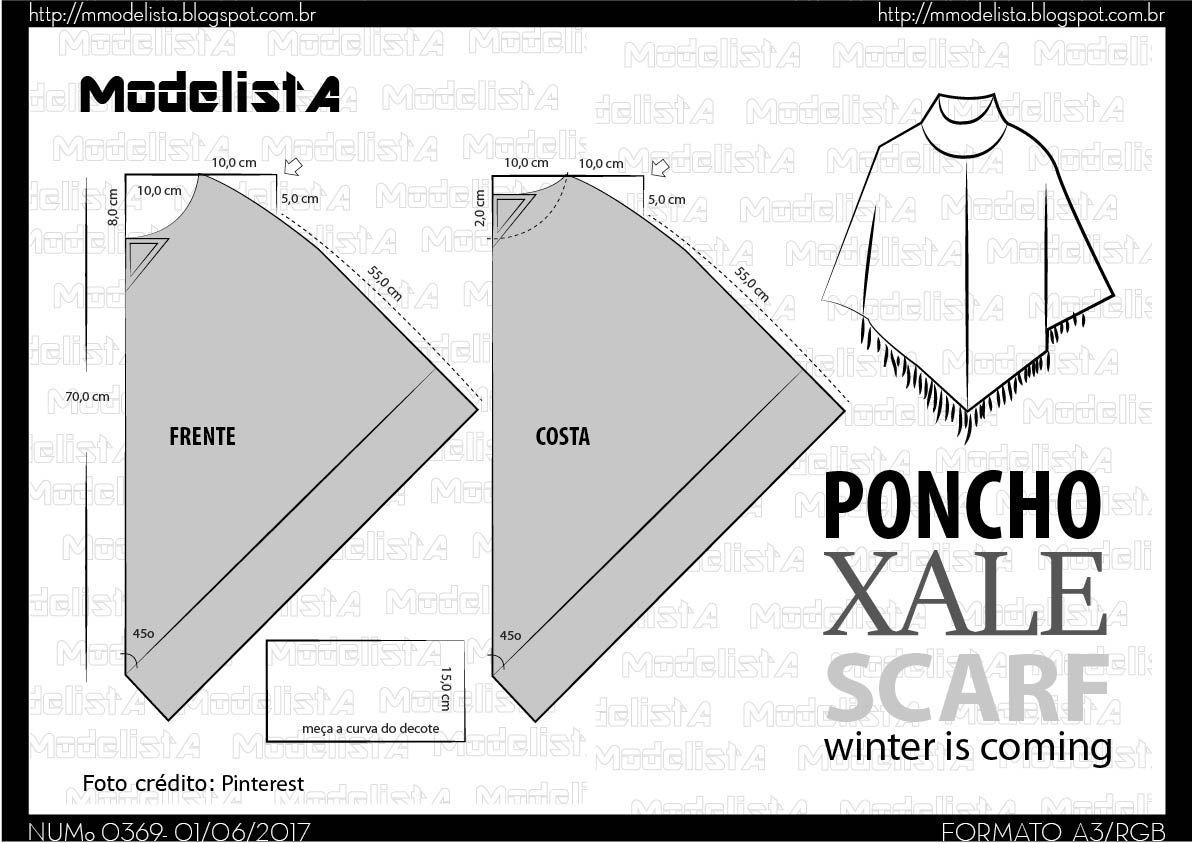 a369-04.jpg (1192×843) | sewing cape patten | Pinterest | Molde ...