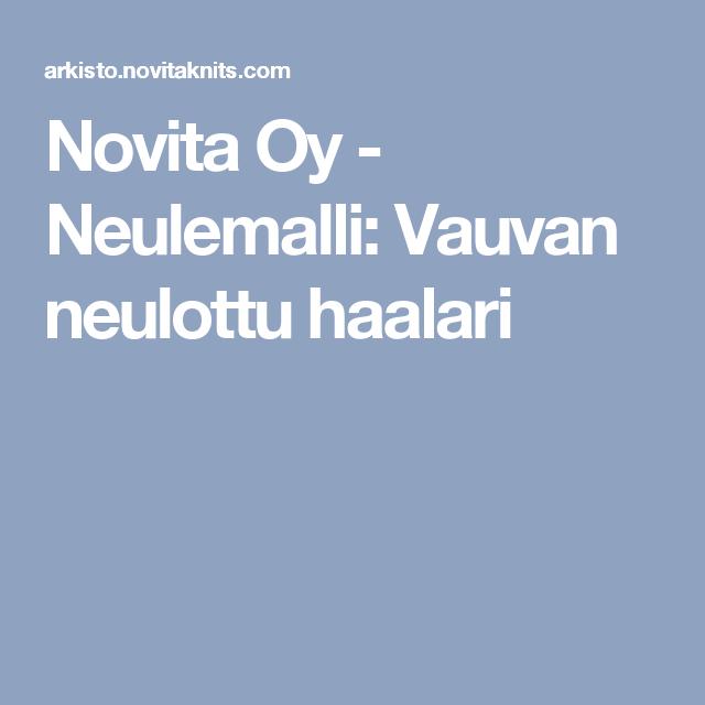Novita Oy - Neulemalli: Vauvan neulottu haalari