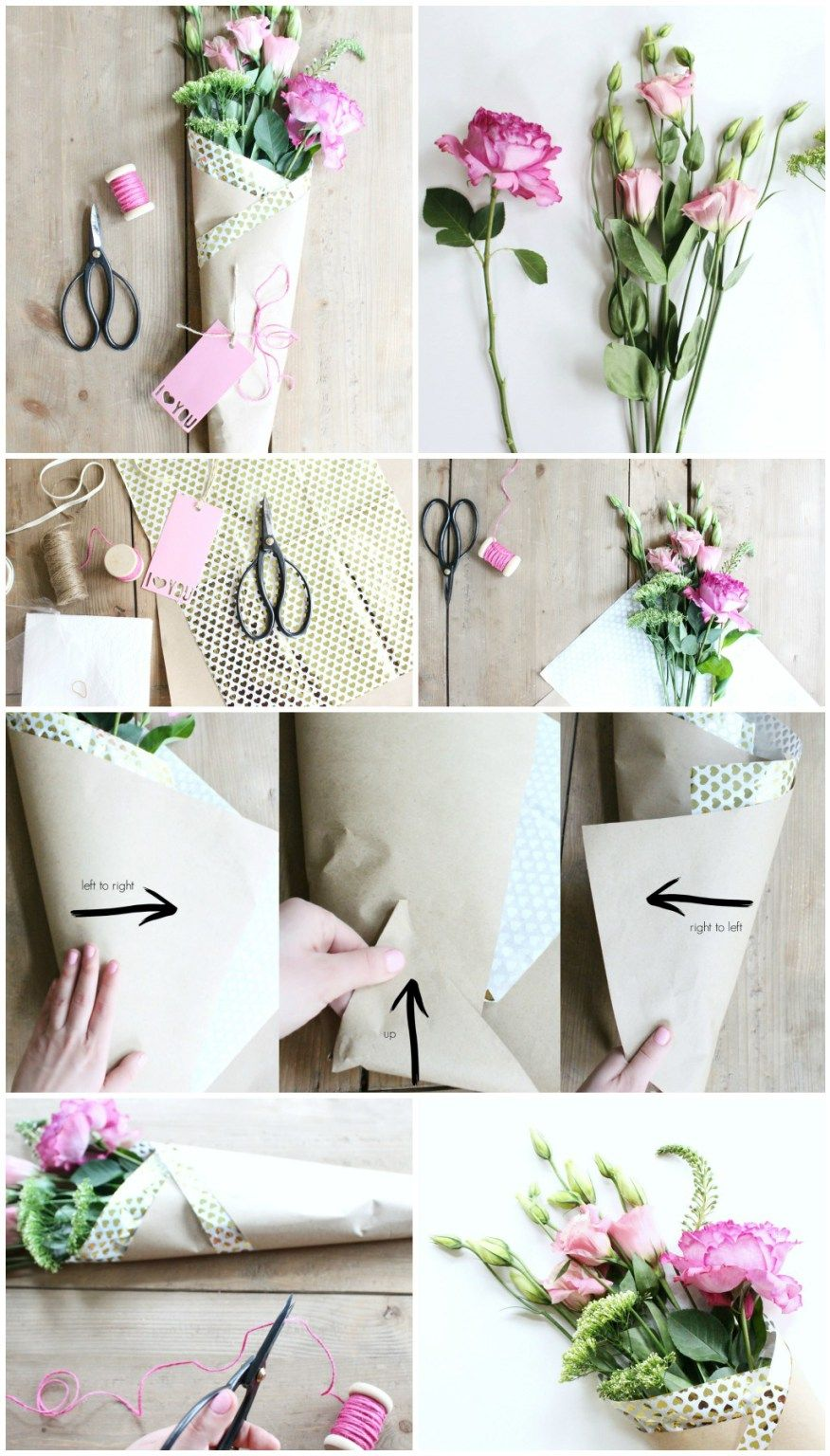 DIY Paper Wrapped Bouquet Flower bouquet diy, How to