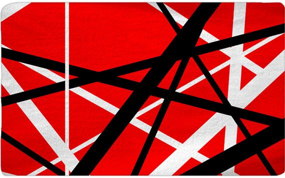 Custom Plush Nap Area Rug Red-White-Black Abstract by ...