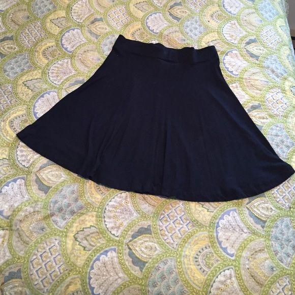 LOFT black knit skirt Lightweight knit skirt. Pull on waistband LOFT Skirts Circle & Skater