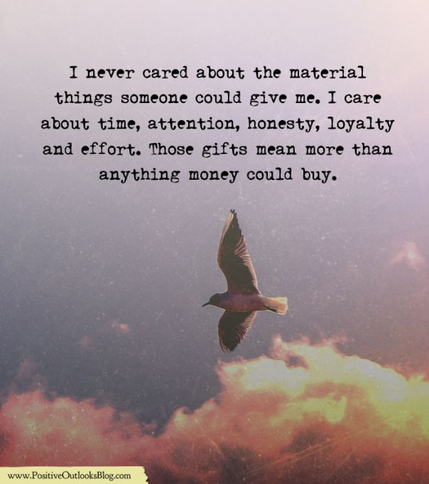 The Things That Mean More To Me Material Things Quotes