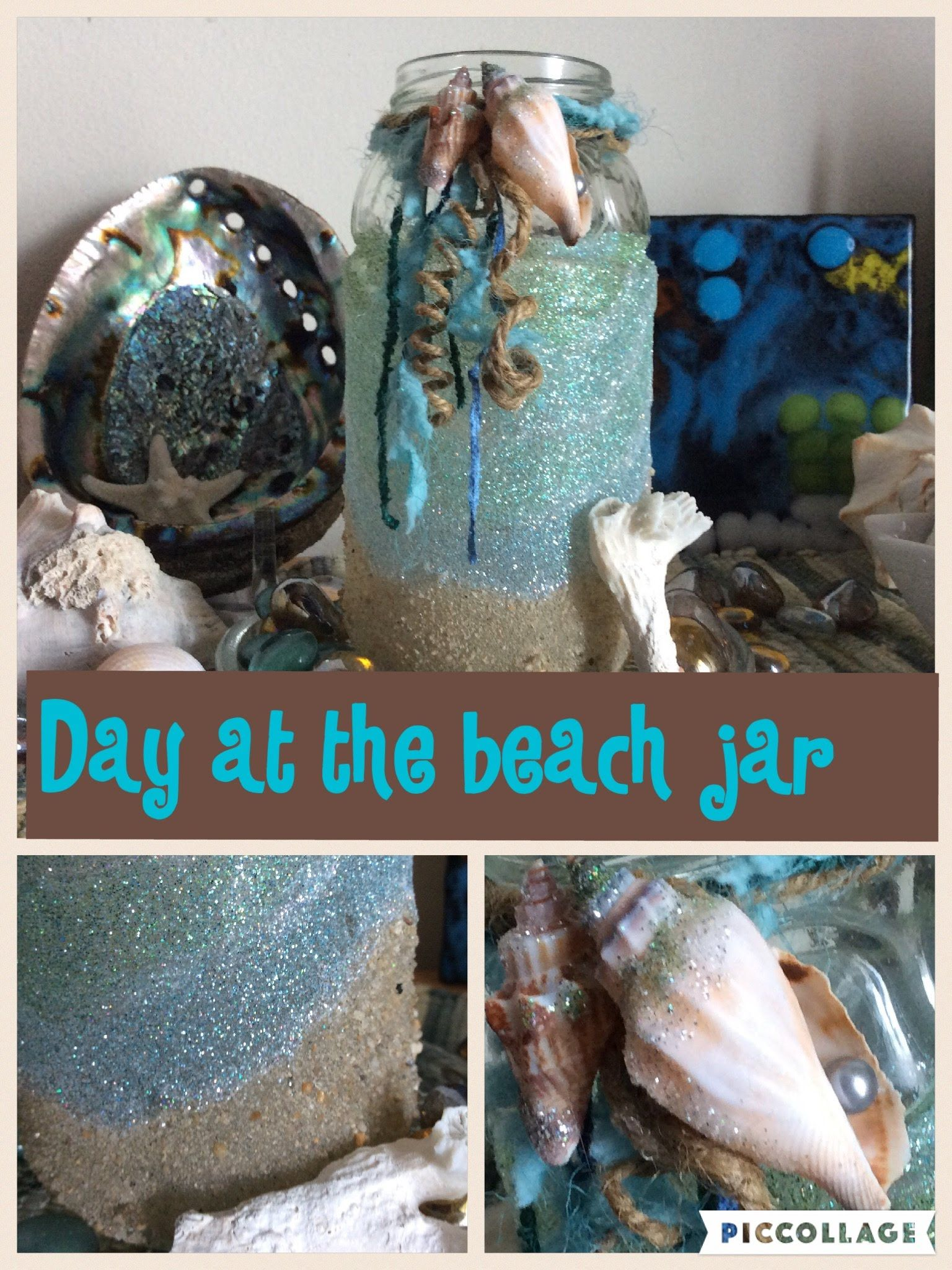 "easy diy ""day at the beach"" jar,"