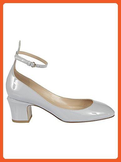 Valentino Garavani Women's Mw2s0105vnepr6 Grey Leather Pumps - Pumps for women (*Amazon Partner-Link)