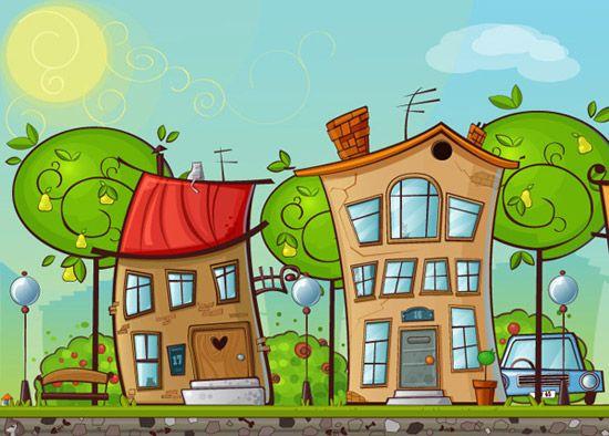 How to Create a Cartoon House in Illustrator Backgroud Art Pinterest - logiciel d gratuit maison