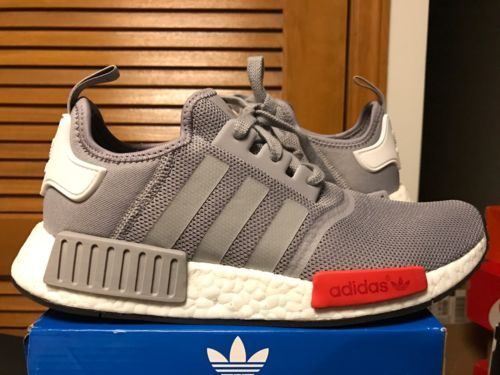 newest 86a3b 3e0f9 adidas NMD R1 WORN ONCE Sz 8.5 Mens S79160 100% AUTHENTIC Mesh Grey Red  Onyx   Men s Shoes   Pinterest   Adidas nmd r1, Nmd r1 and Adidas nmd