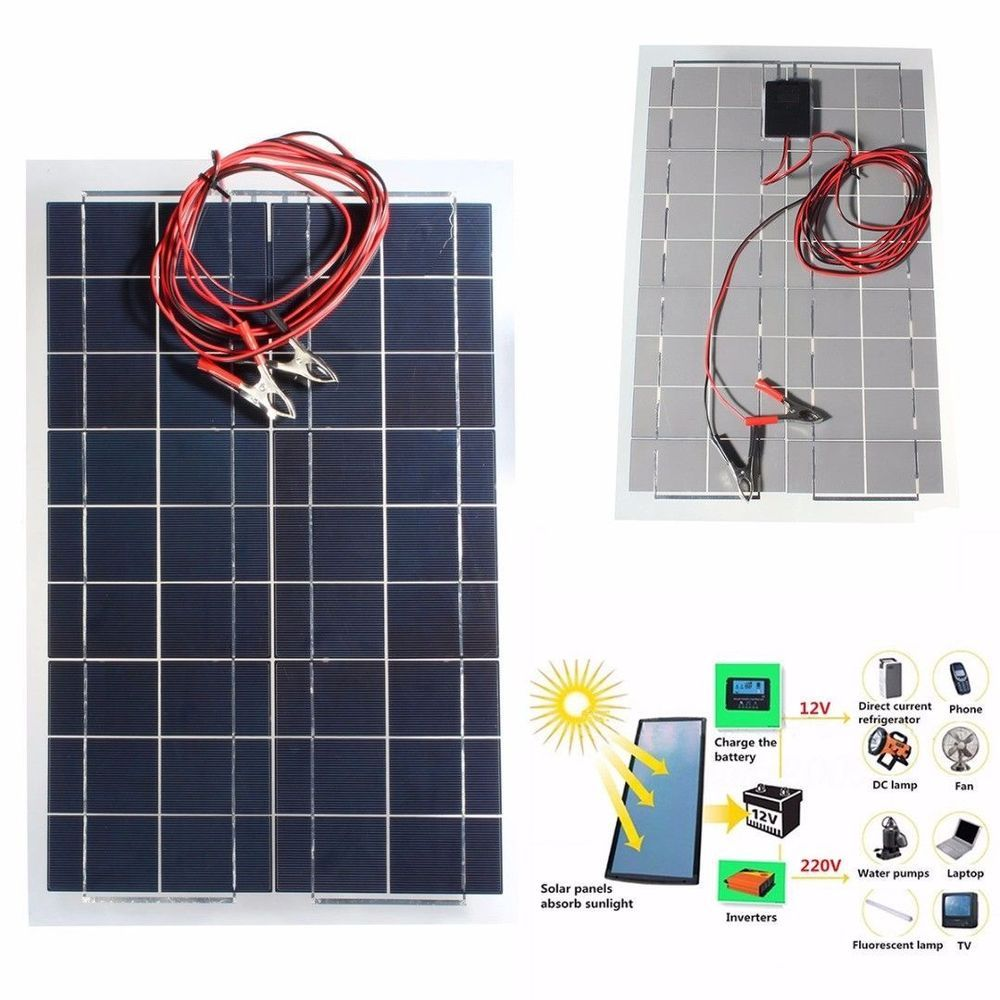 30w 12v Semi Flexible Solar Panel Device Battery Charger Free Shipping Elfeland Flexible Solar Panels Solar Panels Charger
