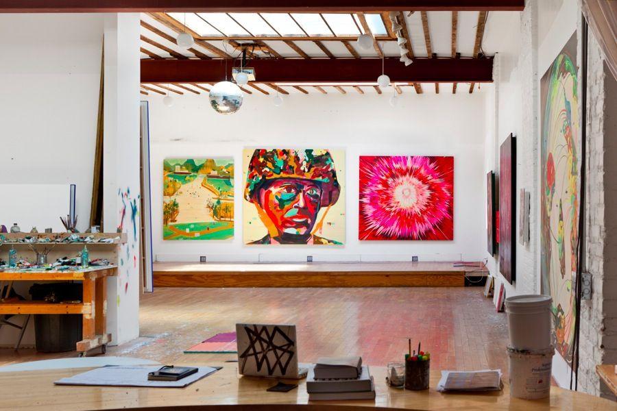 Jules de Balincourt Studio - Daniel PerezCourtesy the artist, Salon 94, Galerie Thaddeus Ropac