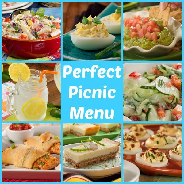 perfect picnic menu 50 make ahead picnic recipes picnic menu picnic recipes and picnic foods. Black Bedroom Furniture Sets. Home Design Ideas
