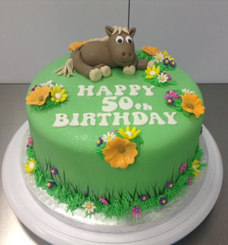 Horse Themed Birthday Cake Decorated By Coast Cakes Ltd Adult - Horse themed birthday cakes