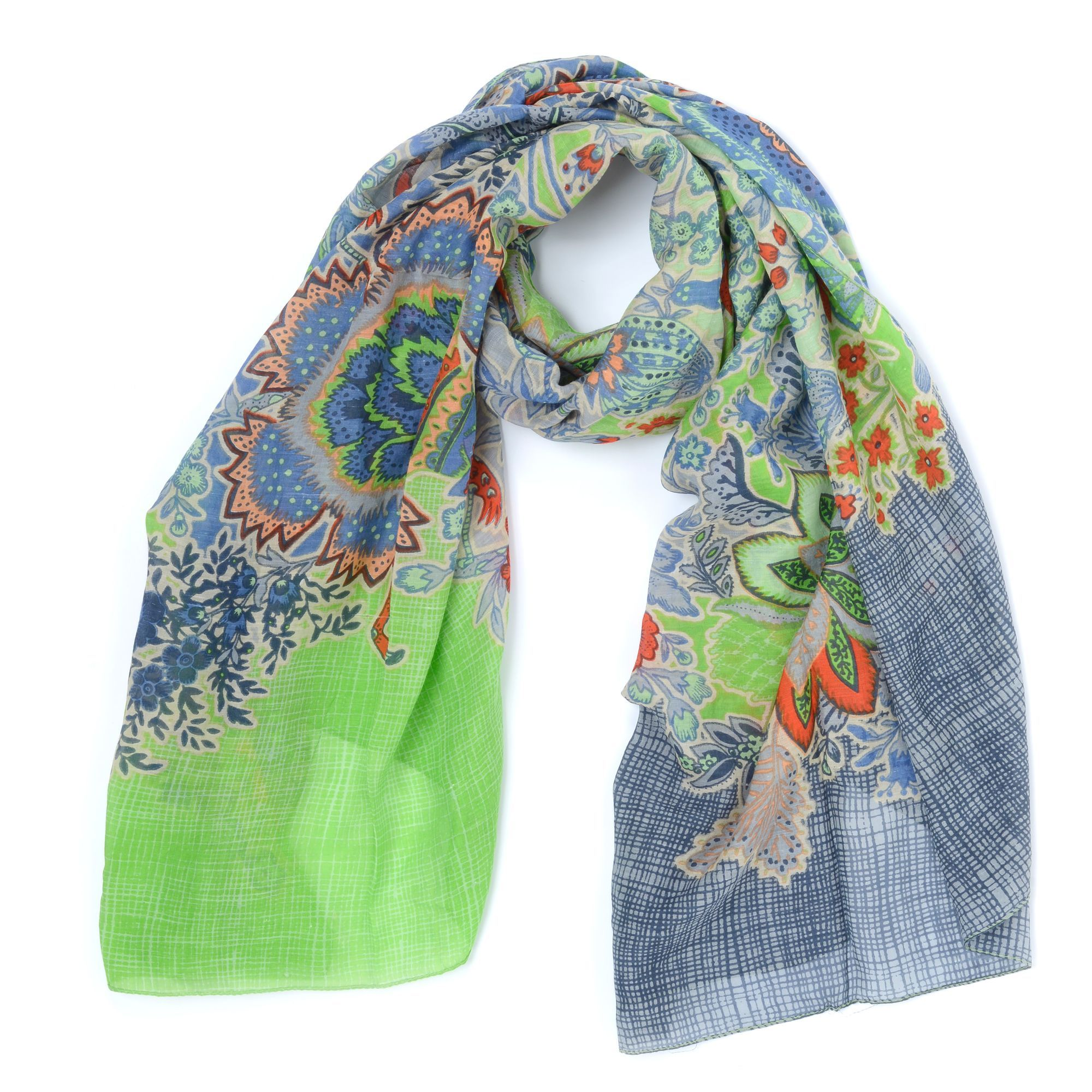 Deze trendy Oilily sjaal heeft een vrolijk gekleurd dessin, passend bij de Botanical Garden tassen! De sjaal is lekker groot. Zeer netjes afgewerkt en fleurt iedere outfit helemaal op!