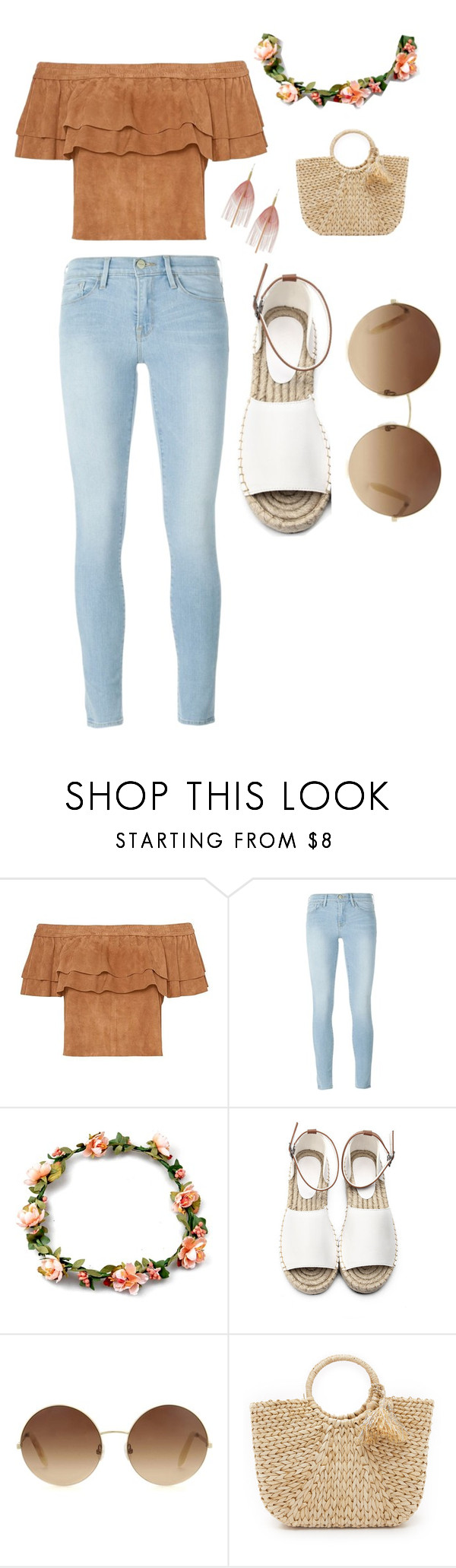 """""""Untitled #28"""" by sandrabcmoonen ❤ liked on Polyvore featuring Frame, Victoria Beckham, Hat Attack and Serefina"""