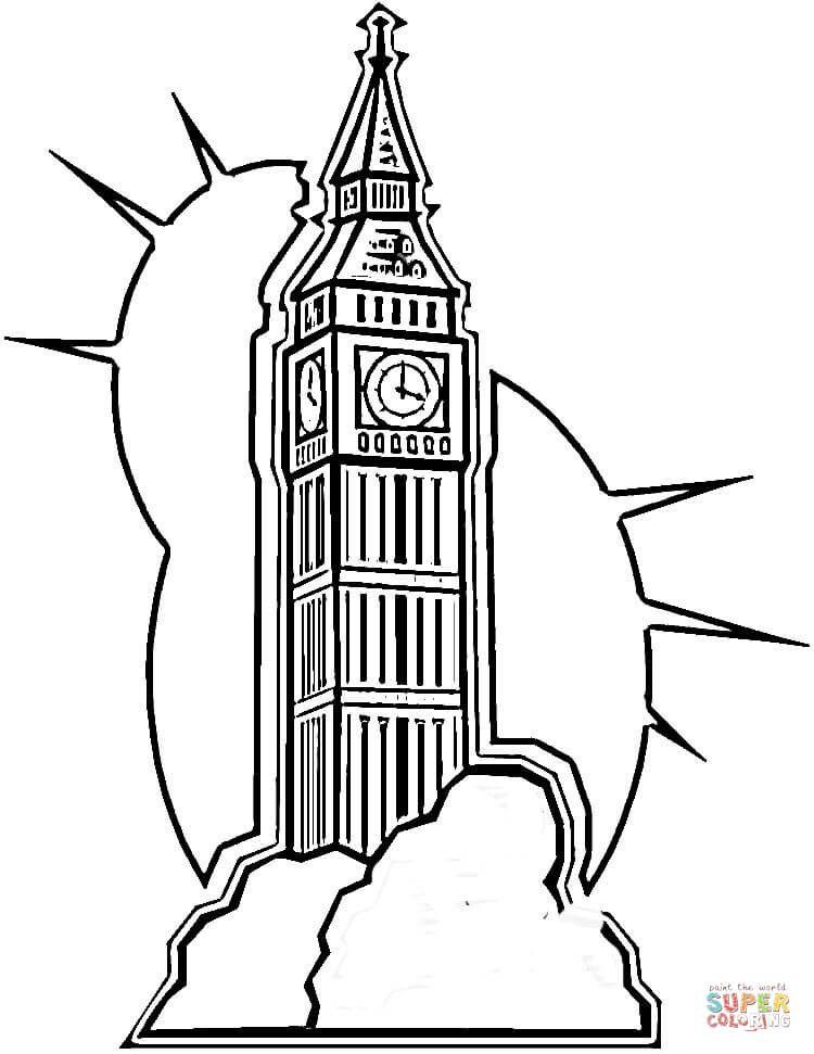Risultati Immagini Per Simbolo Londra Da Colorare S Big Ben