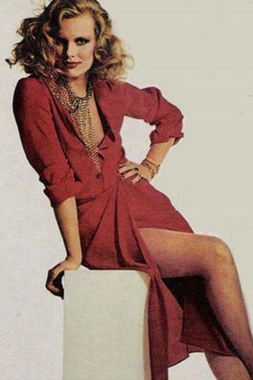 Patti Hansen, 1980s. dark mauve suede wrap dress