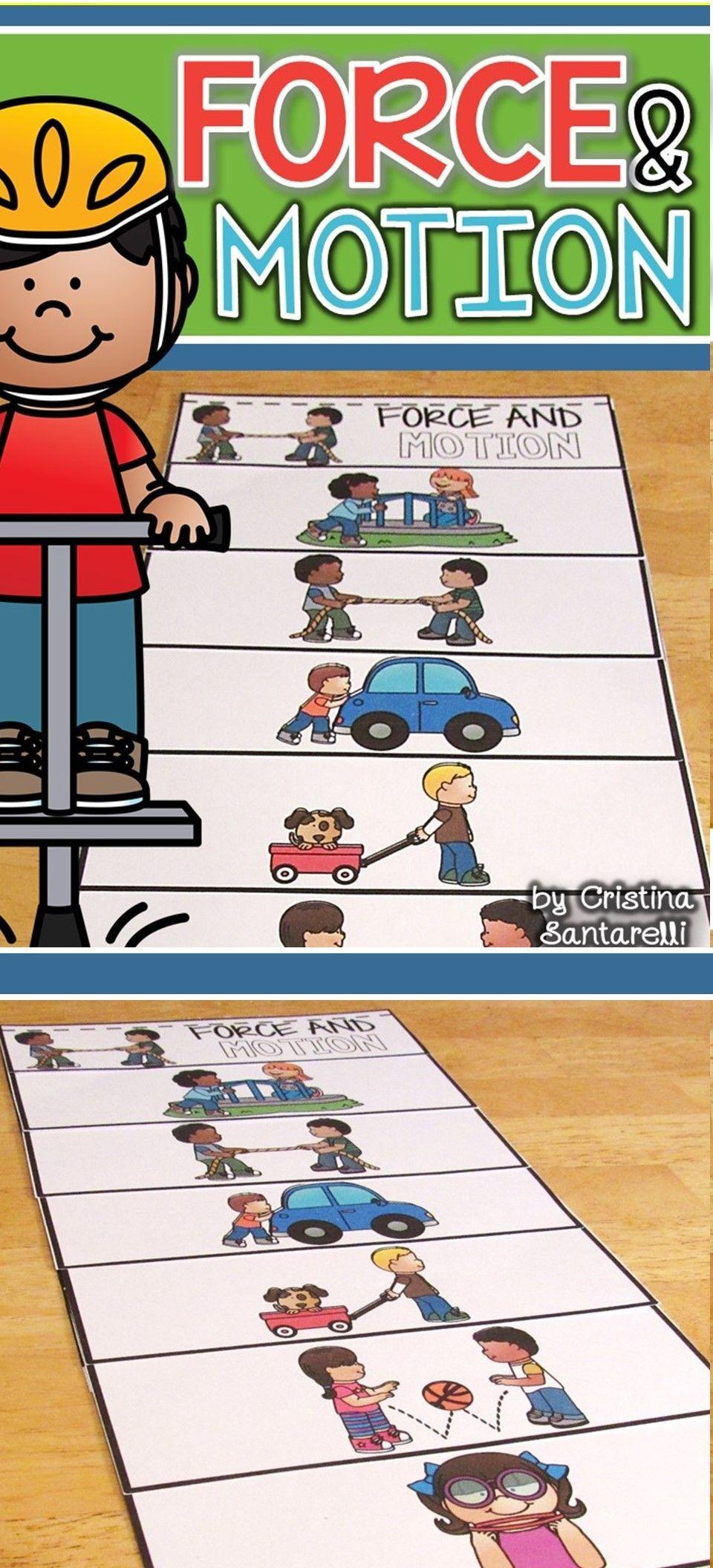 Force And Motion Kindergarten Worksheets In 2020 Force And Motion Motion Activities Flip Book