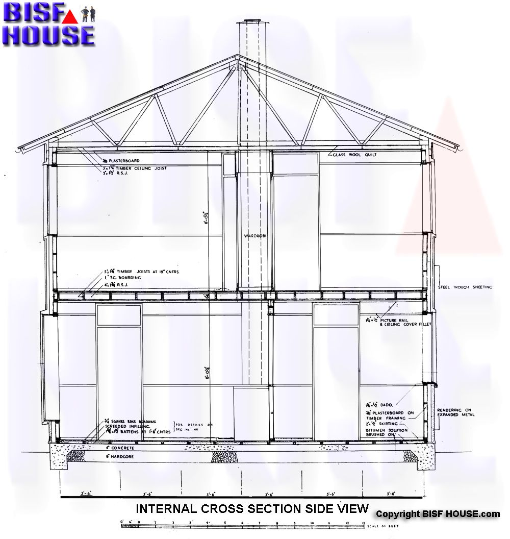 Bisf House Internal Side Plan Bisf Pinterest Building