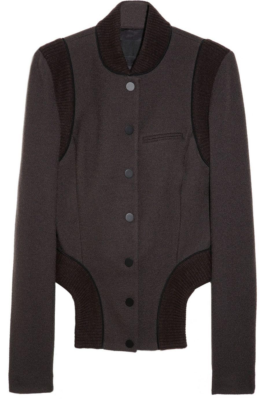 Dippedfront wooljersey varsity jacket by alexander wang