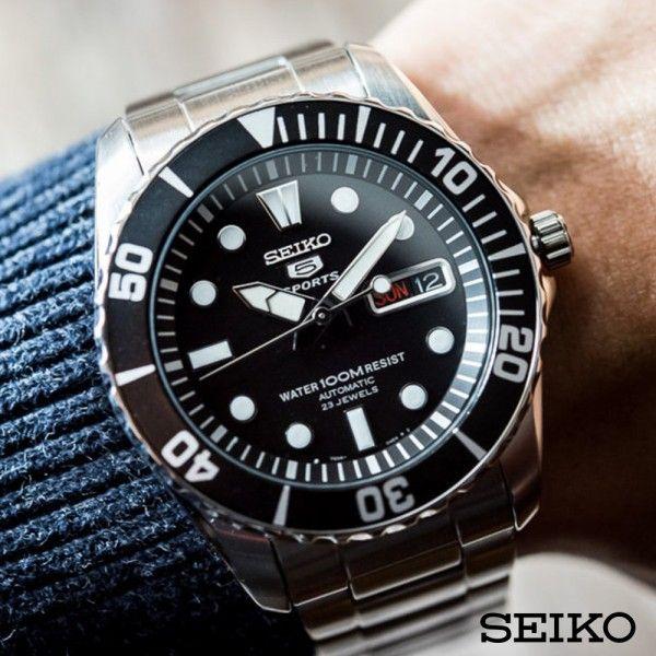 2018 年の seiko 5 sports automatic snzf17k1 時計 seiko