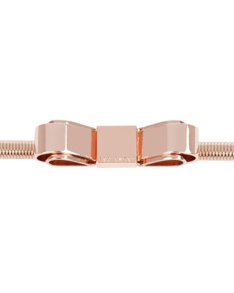 d235ec228986e7 SARIAH - Metallic bow belt - Rose Gold