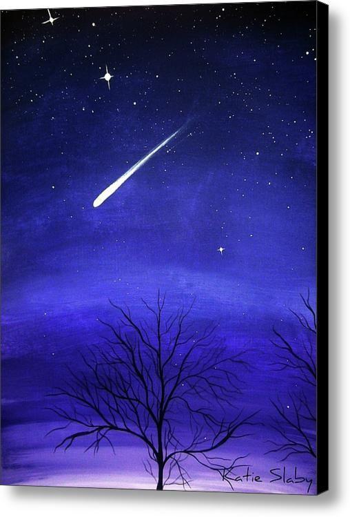 When Stars Fall Canvas Print Canvas Art By Katie Slaby Fall Canvas Painting Simple Canvas Paintings Fall Canvas