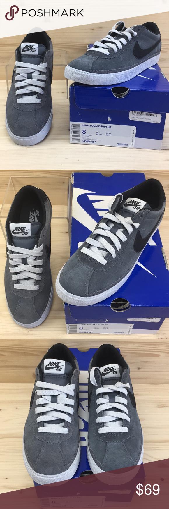 best loved e4fe4 811d9 Nike SB Zoom Bruin Drk Grey Black Mens Size 8 NIB Nike SB Zoom Bruin