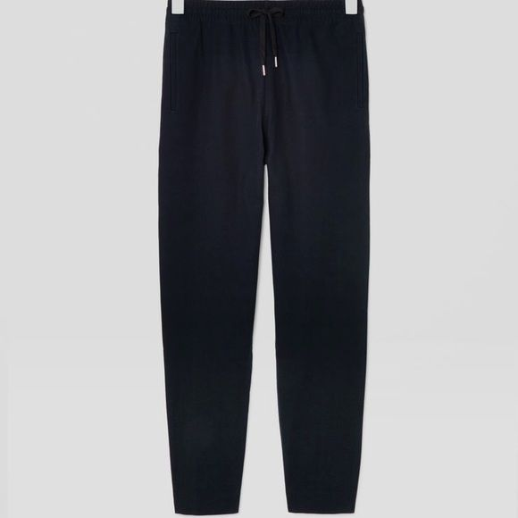 Black drawstring trousers The hem in the bottom ankle of one leg needs to be sewn up. Price reflects that! LOFT Pants Ankle & Cropped