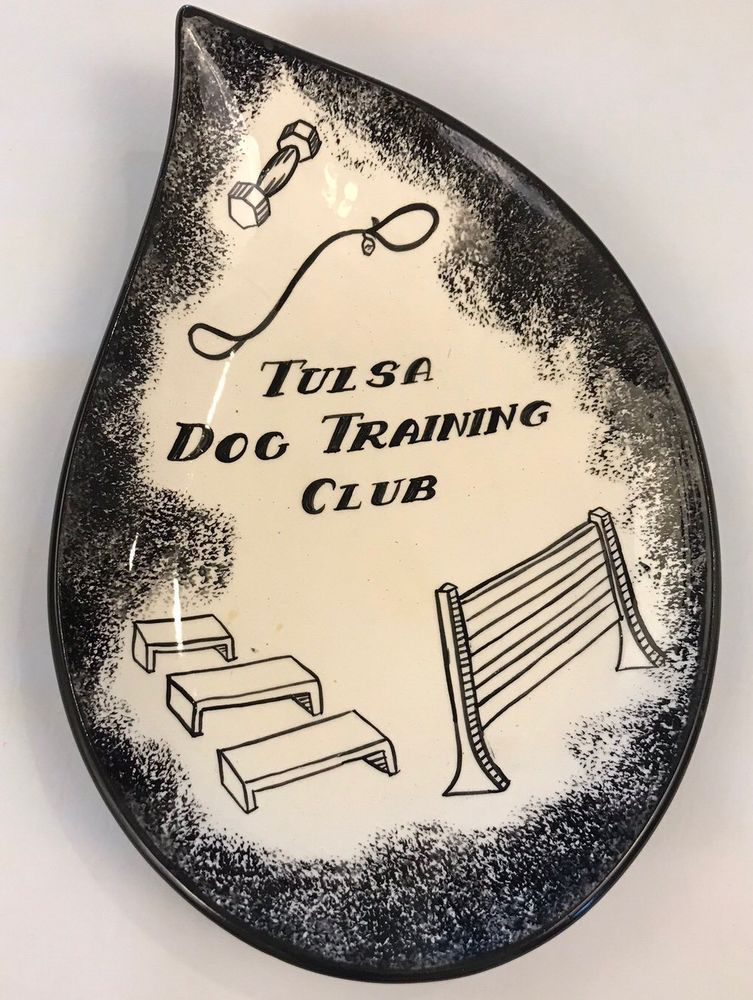 Vintage Tulsa Dog Training Club Plaque Memorabilia Atlantic Mold
