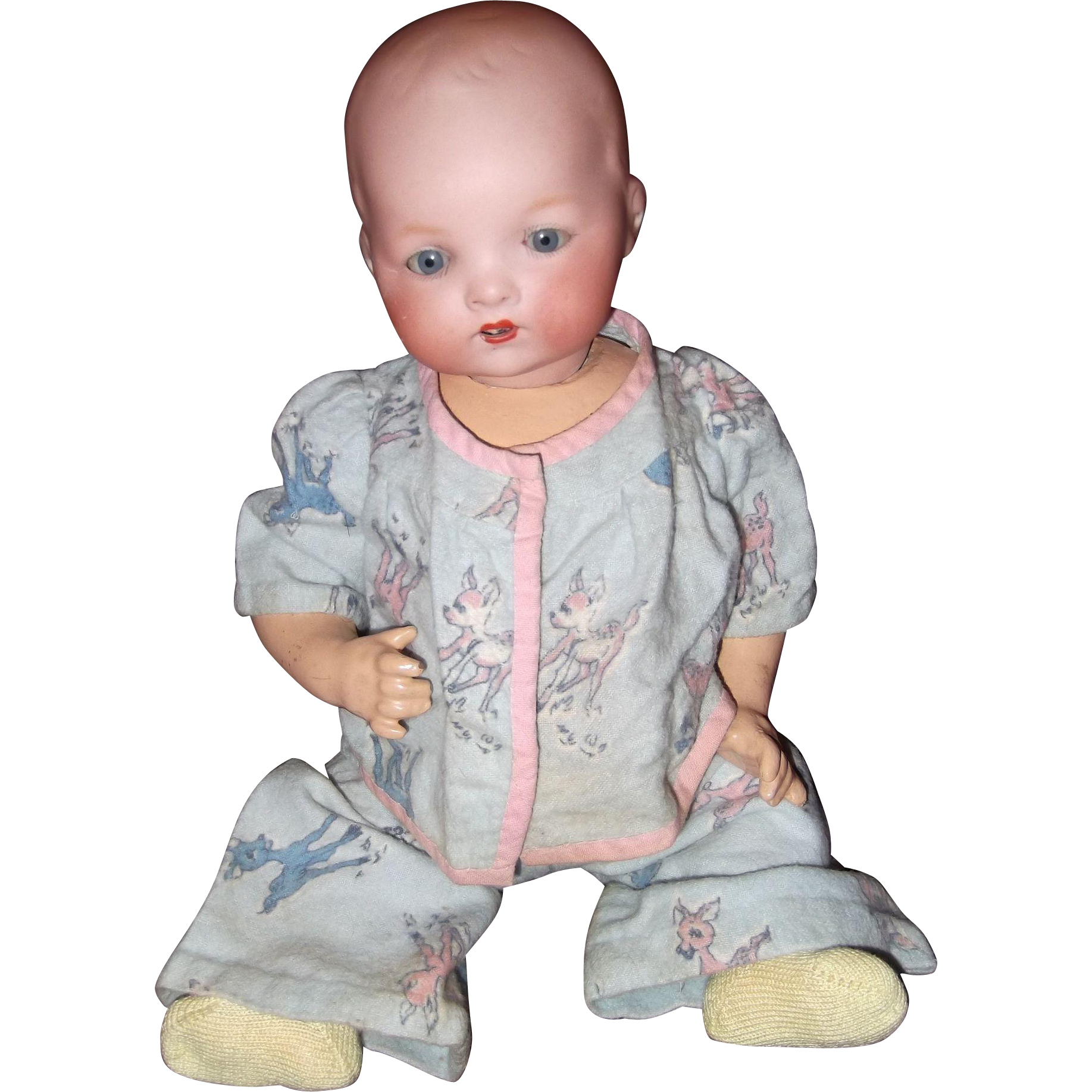 Sweet 14 German A M Bisque Baby Doll Gift Giving Condition