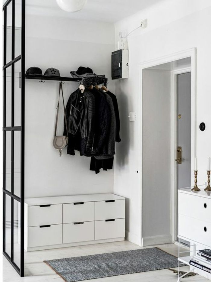 1001 Idees Pour Un Hall D Entree Maison Les Elements A Grand Effet Decoration Hall Vestiaire Entree Deco Entree Maison