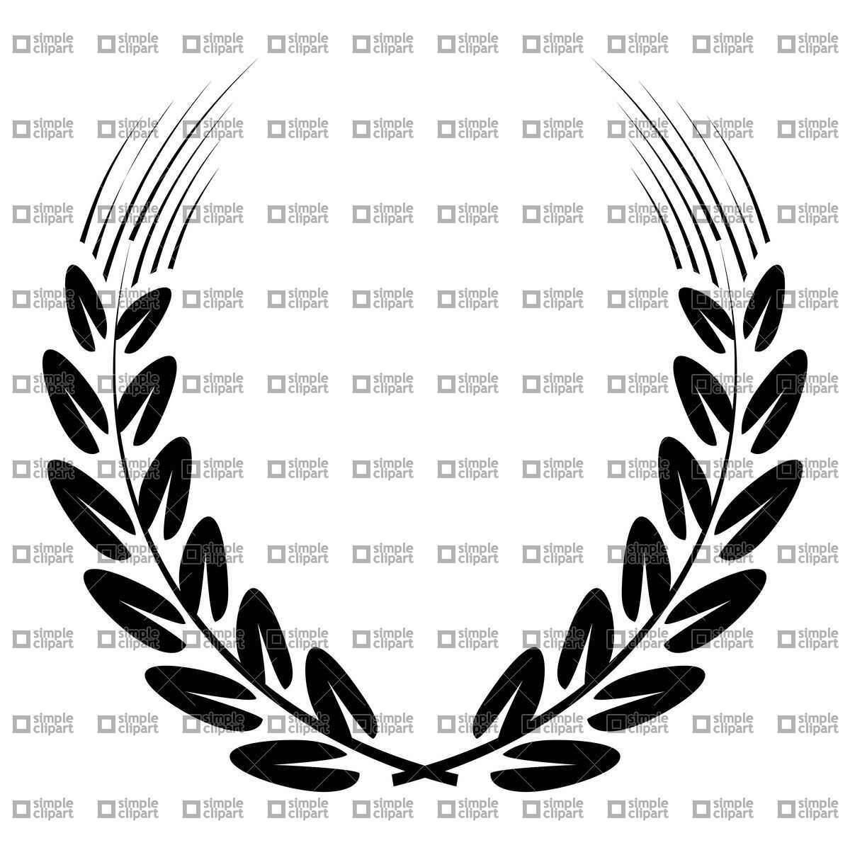 Black wreath made of ear of wheat, download royalty-free vector ...