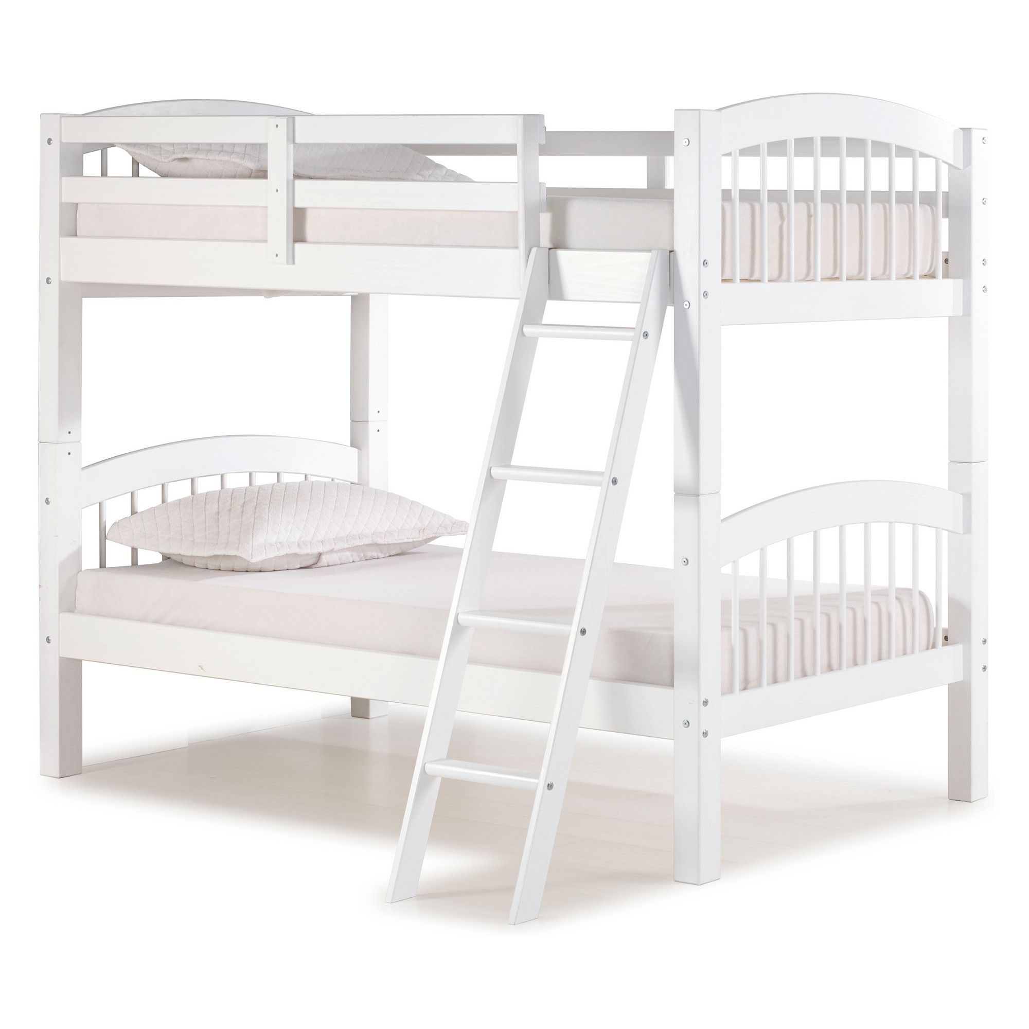 Spindle Twin Over Twin Bunk Bed White Bolton Furniture Bunk
