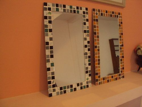 Espejos 50x30 con venecitas y gemas variaci n de colores for Banos decorados con guardas de venecitas