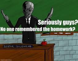 Silence! Do your homework!