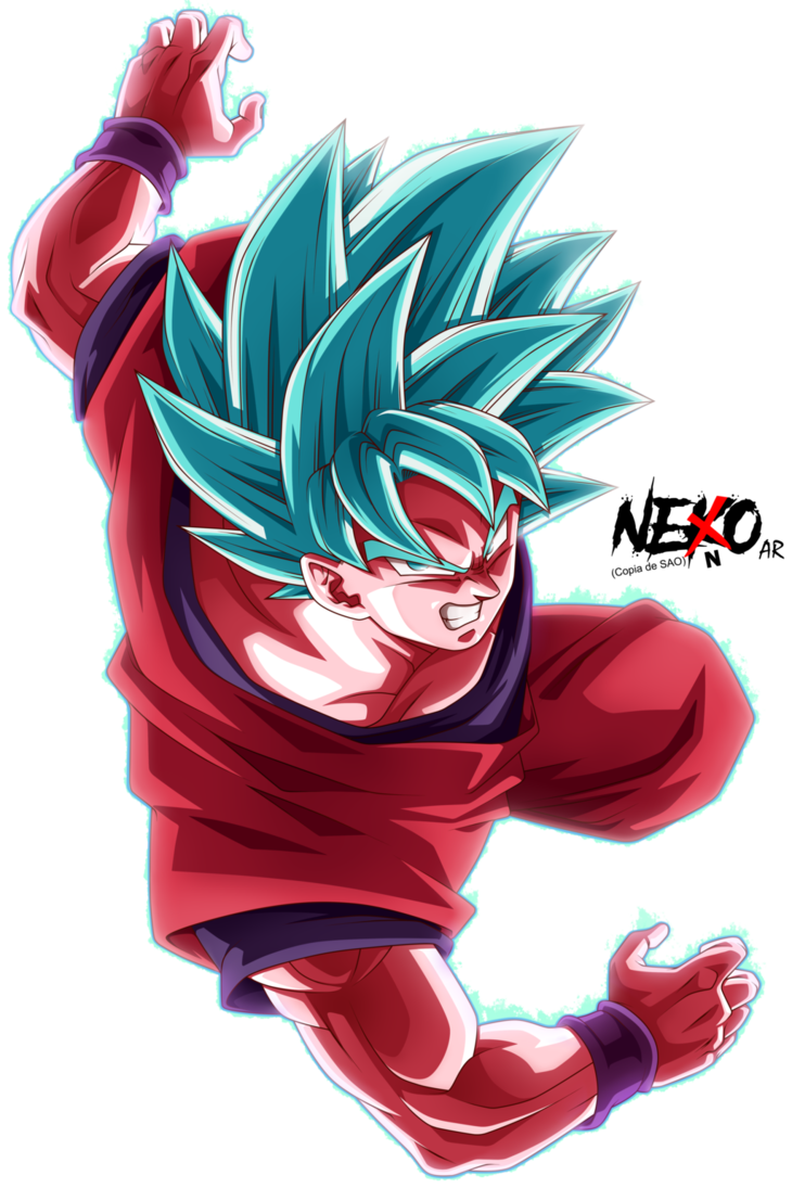 Son Goku Blue Kaioken By Nekoar Dragon Ball Z Pinterest