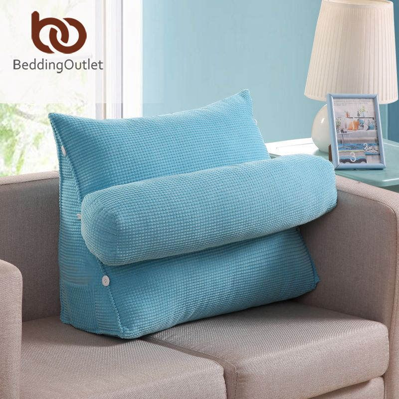 Beddingoutlet Cushion Light Blue Lumbar Pad Pillows For Home Soft Seat Adjule 45cmx45cm 60cmx50cm Bedding Affiliate