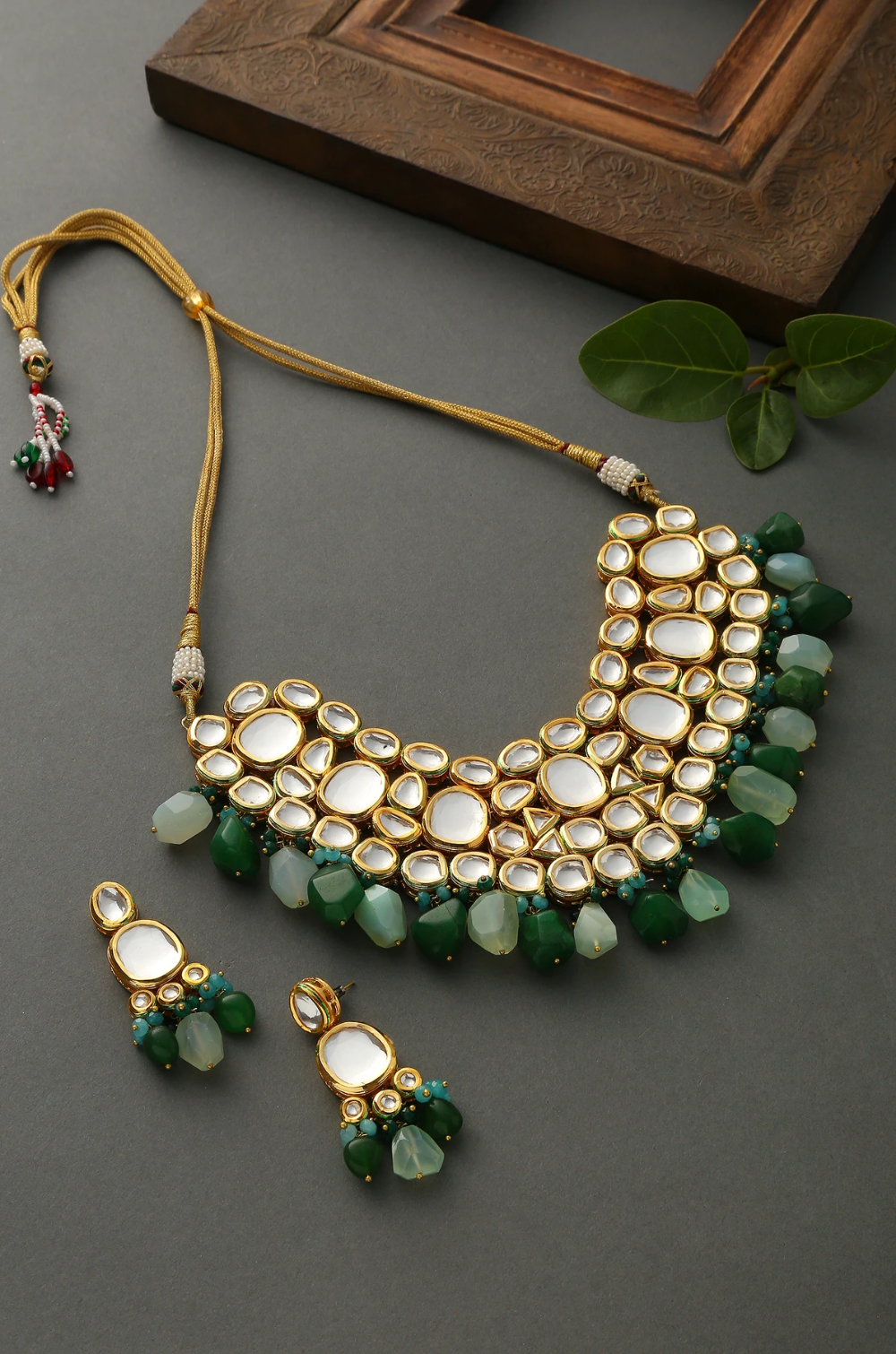 Designer Kundan pendant finish Choker jewelry Set With Earrings For Women WeddingFestive Wear Designer Choker Necklace Jewelry Set
