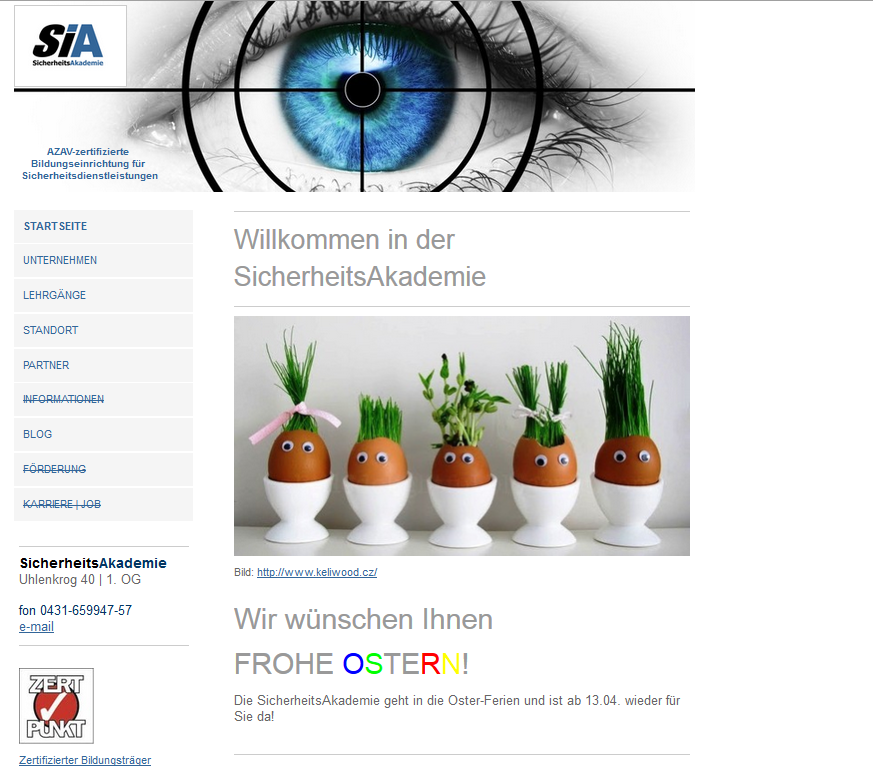 Website Ostern 2015
