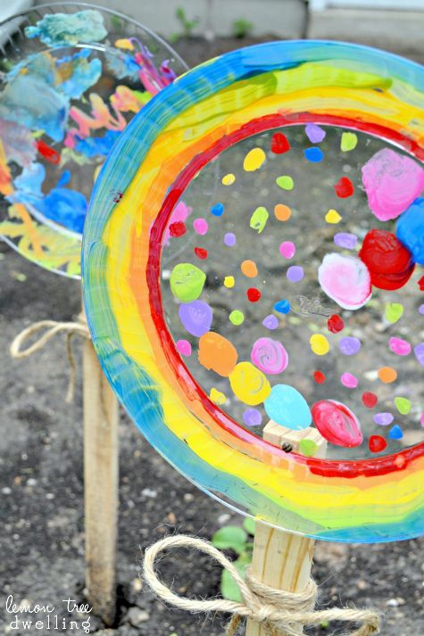 Painted Garden Flowers create memories with kids | Plastic plates Flower and Craft & Painted Garden Flowers create memories with kids | Plastic plates ...