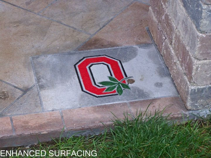 Ohio State Logo Concrete Resurfacing Toledo Ohio Ohio