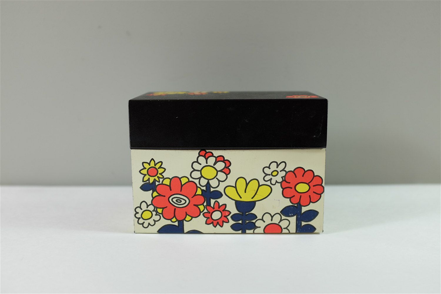 Boite Metal Cuisine Vintage Vintage Recipes Ohio Art Tin Box With Flowers Vintage Ohio Art
