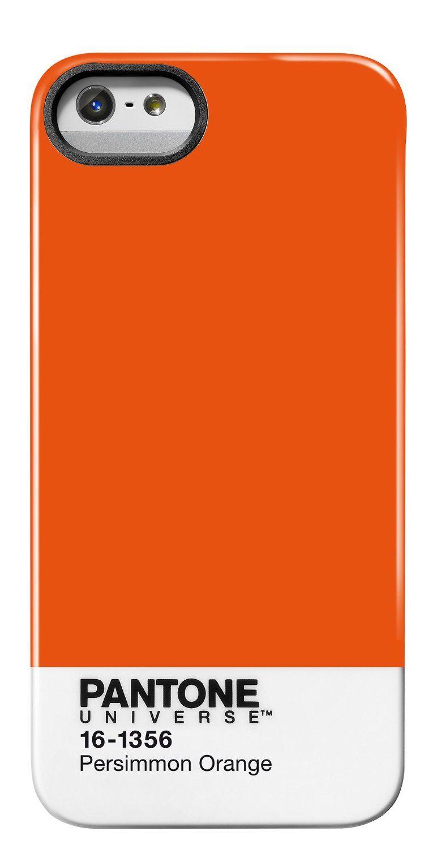 8d971b5c7ad5 Amazon.com  Case Scenario PA-IPH5-PO Pantone Universe Case for iPhone 5 -  Retail Packaging - Orange  Cell Phones   Accessories